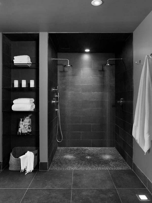 Gạch ốp tường màu đen cho nhà tắm, phòng vệ sinh 2