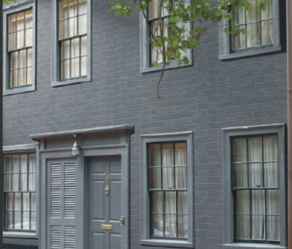 Gạch ốp tường màu đen mặt tiền nhà, ngoại thất