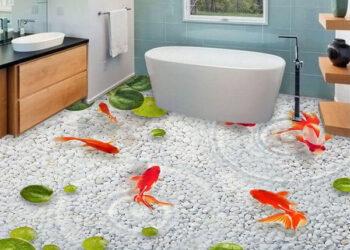 Gạch lát nhà tắm 3d