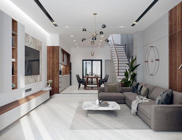 Phòng khách nhà ống và những thiết kế CỰC ẤN TƯỢNG 3