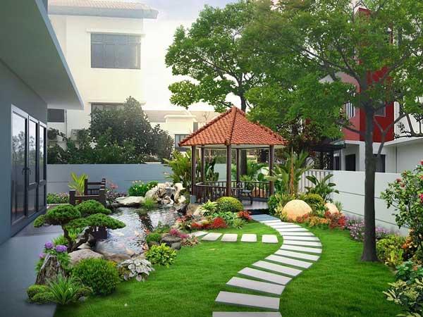 Thiết kế sân vườn đẹp đơn giản và những điều cần biết 3